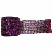 Metallic Wired Mesh Ribbon