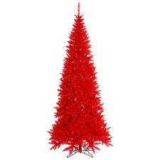 10' Red Slim Fir Christmas Tree