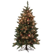 4.5' Frosted Edina Slim Artificial Christmas Tree with Clear Lights