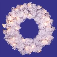 Crystal Artificial Christmas Wreath with Lights