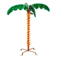 Deluxe Tropical Holographic LED Rope Lighted Palm Tree