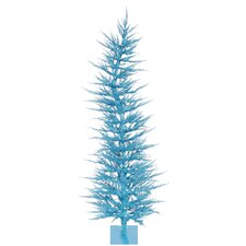 Whimsical 5' Sky Blue Artificial Christmas Tree with 100 Clear Lights