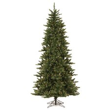 Camdon Fir 6.5' Green Artificial Christmas Tree with 450 LED Warm White Lights with Stand