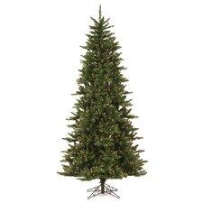 Camdon Fir 7.5' Green Artificial Slim Christmas Tree with 585 LED Warm White Lights