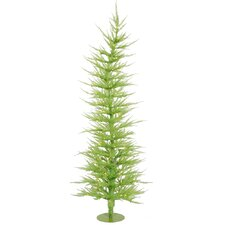 Colorful Laser Chartreuse 5' Green Artificial Christmas Tree with 100 Green Lights