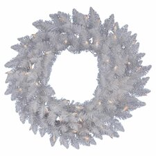 Crystal White Spruce Wreath