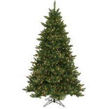 Camdon Fir 6.5' Green Artificial Christmas Tree with 600 Clear Lights with Stand