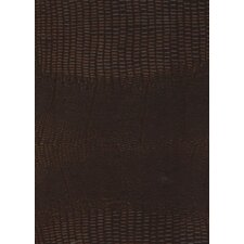 "Rainforest 15-1/4"" x 15-1/4"" Recycled Leather Tile in Mini Gator Sienna"