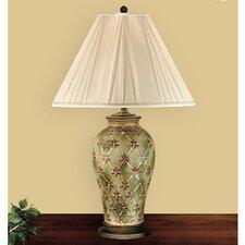 """Garden Trellis 30"""" H Table Lamp with Empire Shade"""