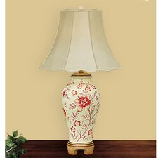 "Star Flower 28"" H Table Lamp with Bell Shade"