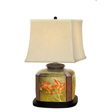 """Metalic 25"""" H Table Lamp with Square Shade"""