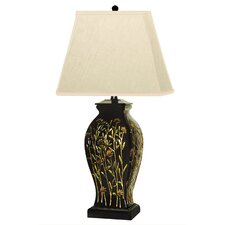 "Long Stem Flowers 29"" H Table Lamp with Rectangular Shade"