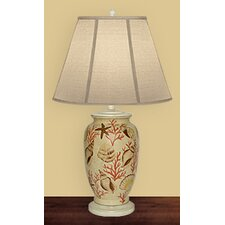 """Neptune's Paradise 27"""" H Table Lamp with Empire Shade"""