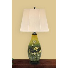 "Lily Flower 28"" H Table Lamp with Empire Shade"