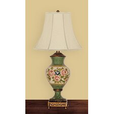 """Serendipity Roses 30"""" H Table Lamp with Bell Shade"""