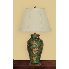 """Floral 29"""" H Table Lamp with Empire Shade"""