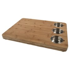 Pro Chef Butchers Chop Block with Prep Bowls in Natural