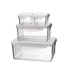 Go Green Tritan 8 Piece Rectangular Food Storage Container Set