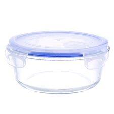 Go Green Glasslock Elements 32-Ounce Round Food Storage Container with Vented Lid and Silicone Seal