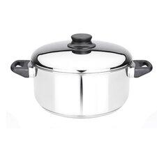 Kitchen Basics 5-1/2-Quart Stainless Steel Covered Dutch Oven