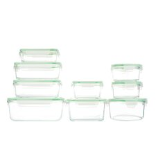 18 Piece Glassworks Oven Safe Food Storage Container Set