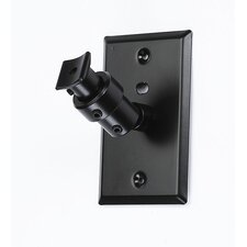 Universal Speaker Wall Ceiling Mount with Electrical Box Installation Adapter Plate in Black