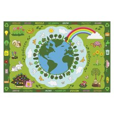 Fun Time Go Green Kids Rug