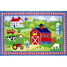 Olive Kids Country Farm Green Area Rug