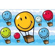 Smiley World Hot Air Balloon Area Rug