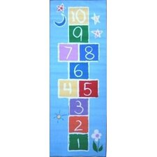Fun Time Primary Hopscotch Area Rug