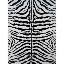 Fun Time White Zebra Skin Area Rug