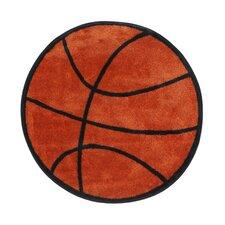Fun Shape Basketball Area Rug