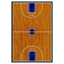 Supreme Basketball Court Sports Brown Area Rug