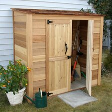 Garden Chalet 6 Ft. W x 3 Ft. D Wood Lean-To Shed