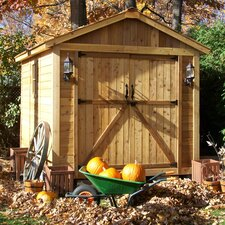 SpaceMaker 8 Ft. W x 12 Ft. D Wood Storage Shed