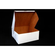 """4"""" x 9"""" Tuck-Top Bakery Boxes in White"""
