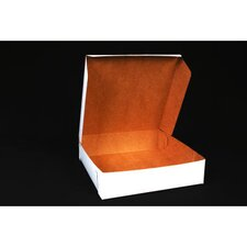 """2.5"""" x 10"""" Tuck-Top Bakery Boxes in White (Set of 250)"""