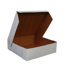 """3"""" x 10"""" Tuck-Top Bakery Boxes in White"""