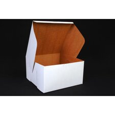 """5.5"""" x 10"""" Tuck-Top Bakery Boxes in White"""