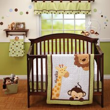 Jungle Pal 3 Piece Crib Bedding Set