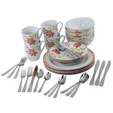 Italian Cypress Service for 4  Dinnerware/Flatware Set