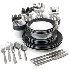 Dawson Service for 4 Dinnerware/Flatware Set