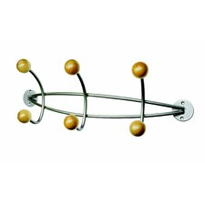 Alco Triple Wall Coat Rack with 6 Wooden Pegs