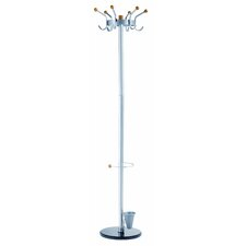 Alco Crown Coat Rack/Stand with 6 Double Pegs