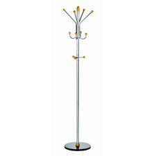 Alco Ridge Coat Rack/Stand with 4 Double Pegs and 3 Knobs