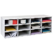 ArchivoDoc Quadro Jumbo Literature and Forms Sorting Station with 12 Compartment