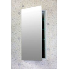 "Contemporary 16"" x 40"" Recessed / Surface Mounted Beveled Edge Medicine Cabinet"
