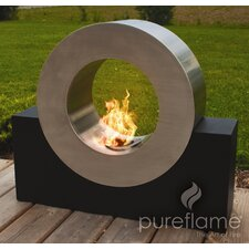 Pureflame Stainless Steel Bio-Ethanol Outdoor Fireplace