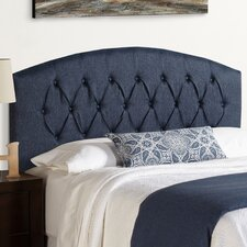 Humble + Haute Hanover Curved Upholstered Headboard in Blue
