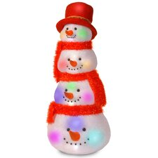 Decorative Décor Tower of Snowman Heads Christmas Decoration